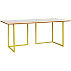 more details on Habitat Nic Office Desk - Yellow and White Oak.