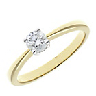 more details on 9ct. Gold 0.33ct Diamond Solitaire Ring.
