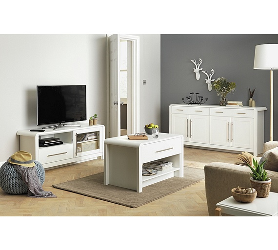 Buy Heart Of House Elford 3 Piece Living Room Pack White