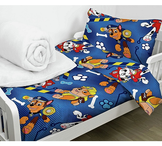 buy paw patrol bed in a bag set toddler at. Black Bedroom Furniture Sets. Home Design Ideas
