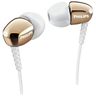 more details on Philips SHE3900 In-Ear Headphones - Gold.