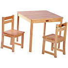 more details on Liberty House Toys Tikk Tokk Boss Table Chair Set - Natural.
