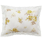 more details on Catherine Lansfield Annabella Cushion - Lemon.