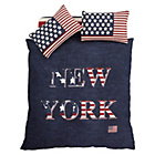 more details on Catherine Lansfield New York Navy Duvet Cover Set - Kingsize