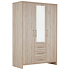 more details on Washington 3 Door 3 Drawer Wardrobe - Warm Oak.