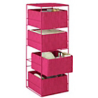 more details on ColourMatch 4 Drawer Storage Unit - Funky Fuchsia.