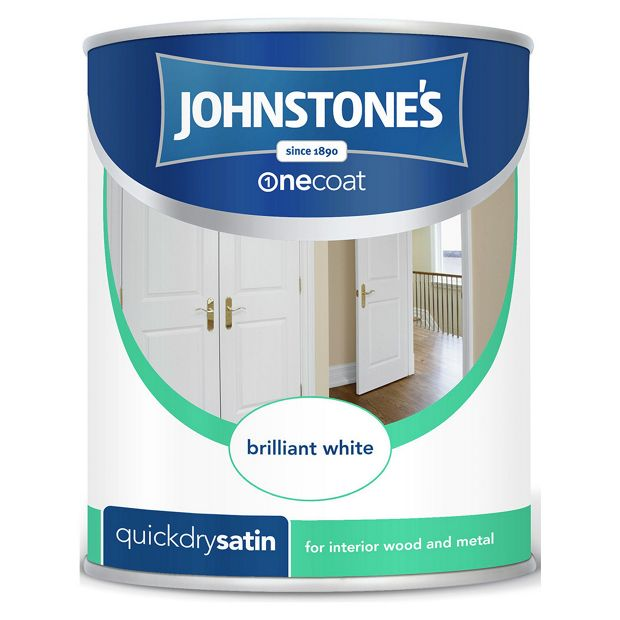 Buy johnstone 39 s white quick dry satin at your online shop for paint - Johnstones exterior paint set ...