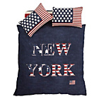 more details on Catherine Lansfield Navy New York Duvet Cover Set - Double.