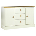 more details on Collection Winchester 2Dr 3Drw Sideboard-White/Solid Oak