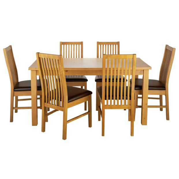 Buy HOME Ashdon Solid Wood Table & 6 Paris Chairs