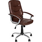 more details on High-Back Gas Lift Carter Office Chair - Brown.