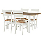 more details on Heart of House Whitby Trestle Table and 4 Chairs - Cream.
