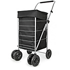 more details on Premium 6 Swivel Wheel Shopping Trolley - Black.