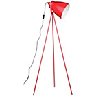 more details on Red Metal Tripod Floor Lamp.