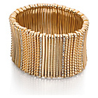 more details on Fiorelli Gold Coloured Crystal Wide Stretch Bracelet.