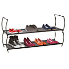 more details on Carrie 2 Shelf Shoe Rack  - Brown.