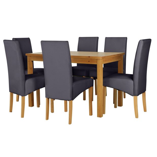 Argos Dining Table And Chairs White: Buy HOME Lincoln Dining Table And 6 Charcoal Chairs