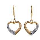 more details on Evoke 9ct Gold Plated Silver Floating Heart Earrings.