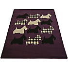 more details on Melrose Scottie Dog Rug - 80x150cm - Plum.