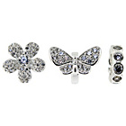 more details on Sterling Silver Butterfly Beads - Set of 3.