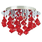 more details on Eve Droplet 3 Light Flush Ceiling Fitting - Red.