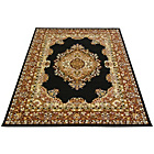 more details on Melrose Maestro Traditional Rug - 80x150cm - Black.
