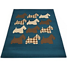 more details on Melrose Scottie Dog Rug - 120x170cm - Teal.