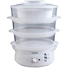 more details on Cookworks 3 Bowl Steamer - White.
