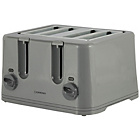 more details on Cookworks KT-223 4 Slice Toaster - Silver.