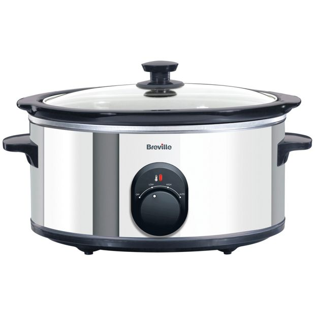 Buy breville itp137 4 5l slow cooker stainless steel at for Kitchen set argos