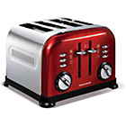 more details on Morphy Richards 44732 Accents 4 Slice Toaster - Red.