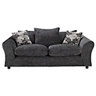 more details on Clara Large Fabric Sofa - Charcoal.