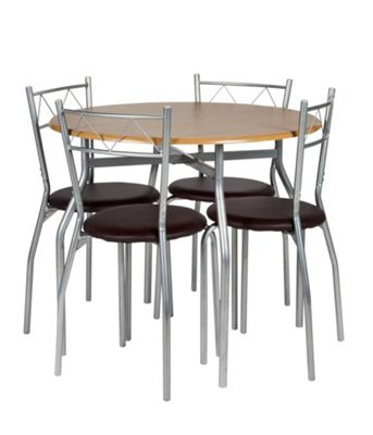 Buy Oslo Dining Table and 4 Chairs Oak EffectLeather  : 4238029RSETTMBampwid620amphei620 from www.argos.co.uk size 620 x 620 jpeg 30kB
