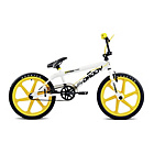 more details on Rooster Big Daddy White and Yellow BMX with Mag Wheels.