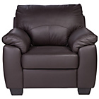 more details on HOME New Logan Leather/Leather Effect Chair - Chocolate.