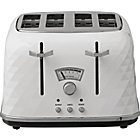 De'Longhi Brillante 4 Slice Toaster - White