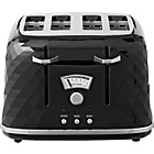 De'Longhi Brillante 4 Slice Toaster - Black