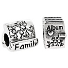 more details on Sterling Silver Family Album Beads - Set of 2.