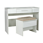 more details on Sparkle 2 Drawer Dressing Table and Stool - White.