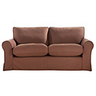 more details on Charlotte Large Fabric Sofa with Loose Cover - Chocolate.