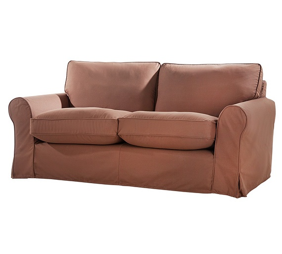 buy home charlotte 3 seater fabric sofa with loose cover