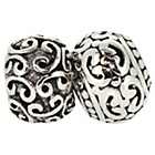 more details on Sterling Silver Patterned Beads - Set of 2.