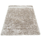 more details on Melrose Ribbon Shaggy Rug - 80x150cm - Champagne.