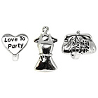more details on Sterling Silver Love to Party Beads - Set of 3.