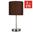 more details on ColourMatch Satin Stick Table Lamp - Chocolate.