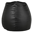more details on New Pear Extra Large Leather Effect Beanbag - Black.