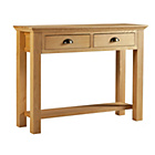 more details on Westminster Console Table - Solid Oak.