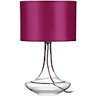more details on Glass Table Lamp with Hot Pink Shade.