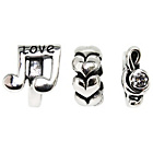 more details on Sterling Silver Love Music Beads - Set of 3.