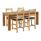 more details on Heart of House Hadlow Solid Oak Dining Table and 4 Chairs.